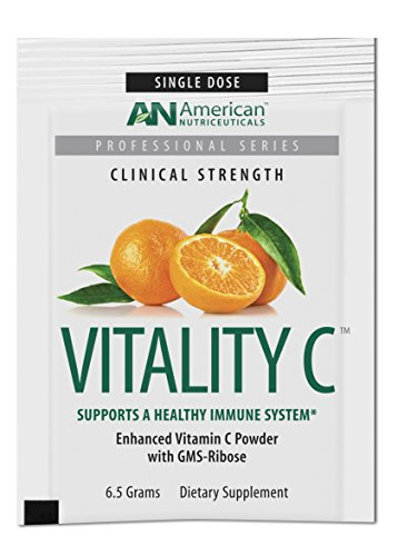 Cheap American Nutriceuticals – Vitality C Single Dose – 20 Packets | Ultra High-Potency Vitamin C Powder Without Gastric Distress | Enhanced Absorption, Neutral pH with GMS-Ribose Complex