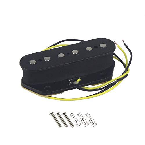 (IKN Electric Guitar Ceramic Pickups Bridge Pickup Black for Tele Style Guitar)