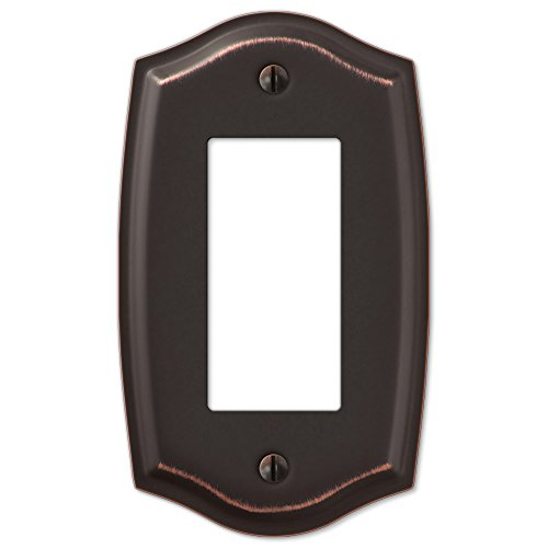 Single GFCI Rocker Switch Plate Outlet Cover Rocker Toggle Light Wall Plate - Oil Rubbed Bronze