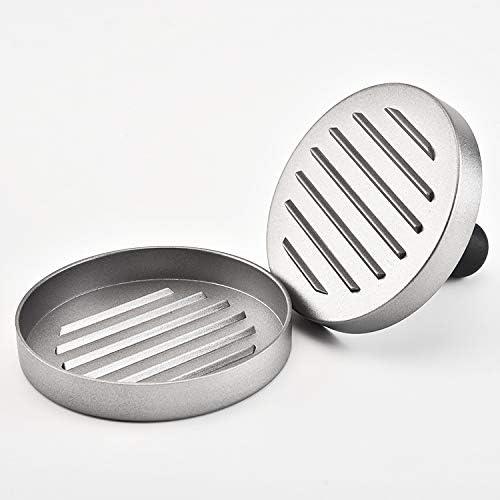 TIGOWL Fleischpastete Form DIY Form Hamburger Fleischpastete Druckform Küche Burger Fleischpresse Runde Haushaltspresse Fleischpastete
