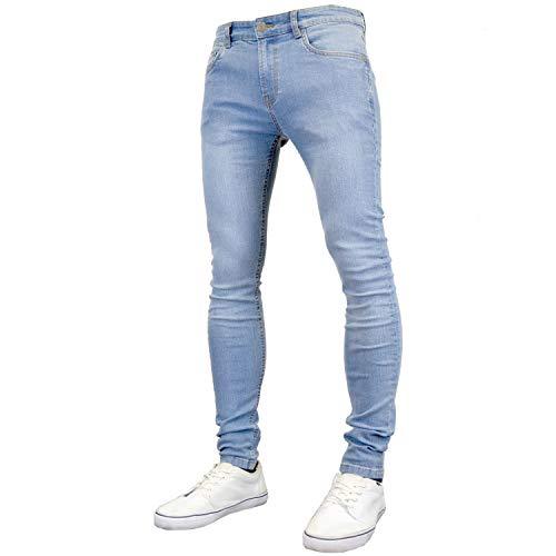 526Jeanswear Men's Raptor Stretch Super Skinny Fit Jeans (30W x 30L, Lightwash)