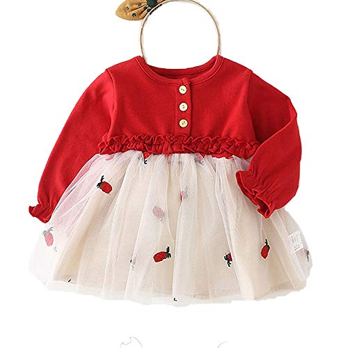 MZjJPN Toddler Kids Baby Girl Floral Casual Princess Party Tulle Dress Outfits Long Sleeve -