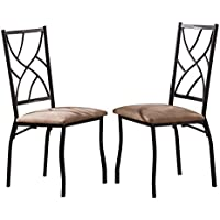 Kings Brand Furniture Bronze Metal With Fabric Kitchen Dinette Side Chairs, Set of 2