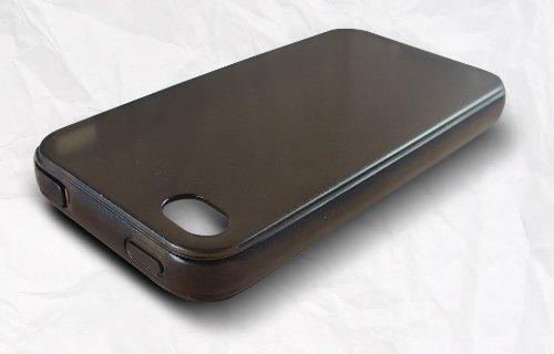 Xcessor nCover Schutzhülle Für Apple iPhone 4 und 4S. Flexible TPU Schutzhülle mit Schutzkappen für Daten und Kopfhörer-Anschlüsse. Grau/Semi-transparent