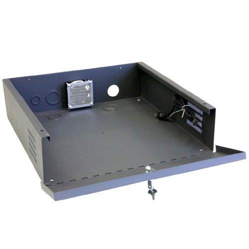 CCTV DVR Lock Box - 16 Gauge Steel Security DVR Lockbox with FAN