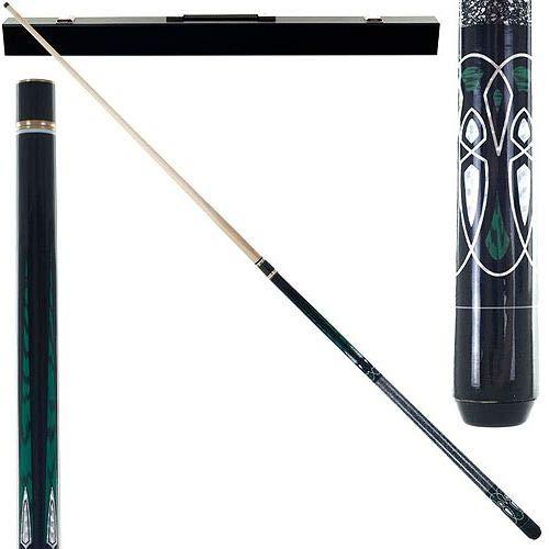 (Aromzen Emerald Green Laser Designer Pool Stick)