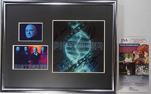 Signed Disturbed Autographed Evolution Cd Certified Authentic JSA # DD47775