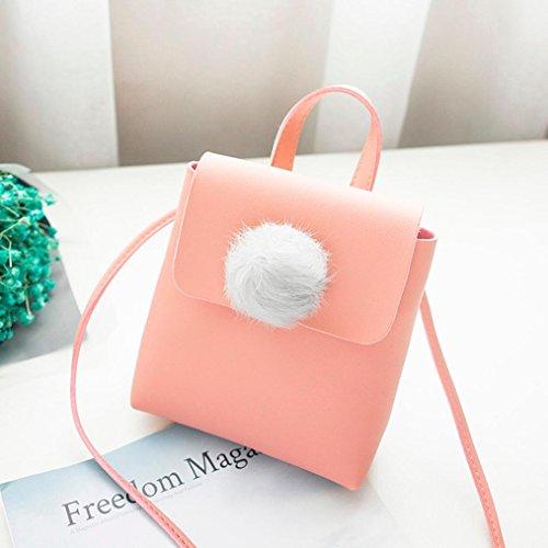 Bandoulière Téléphone Hairball Rose à bandoulière à Billes Mode solide Crossbody Femmes Sac à Sac De Rawdah Magnétique Sac Couverture Pure Bag Couleur 5HqF7