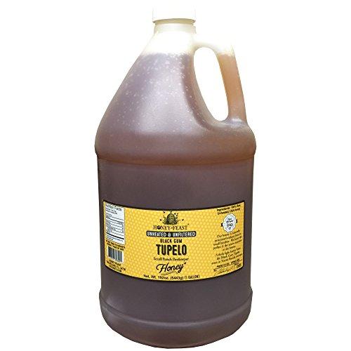 Black Gum TUPELO Honey - 1 Gallon Jug. Raw, Unheated, Unfiltered USA Honey Feast brand honey. Hand crafted small batch beekeeper honey from Florida. USA (Desert Blossom Honey)