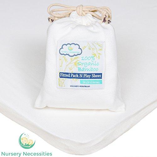 100% ORGANIC Bamboo Pack N Play Sheet – Silky Soft, Antibacterial, Hypoallergenic – Superior to Cotton – By Nursery Necessities For Sale