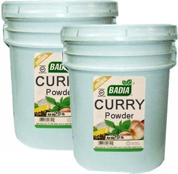 Badia Curry Powder 20 lbs Pack of 2 by Badia