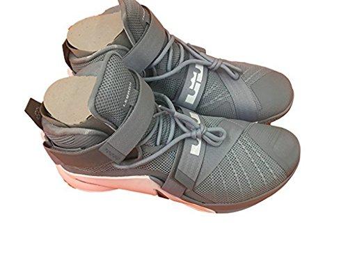 Lebron Soldier IX TB 813264 001 grey/ white size 13.5 by Nike, Bloutina