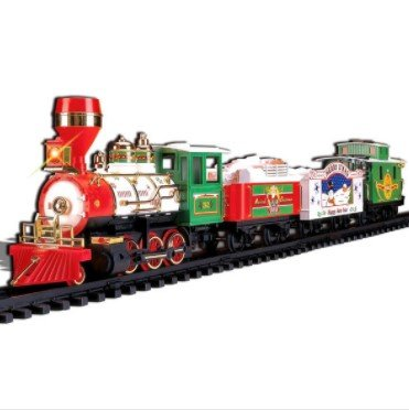 Musical Christmas Train 4-Car Set, Perfect for Display Under a Christmas Tree, Plays 3 Christmas Carol, For Children Ages 4 and Up
