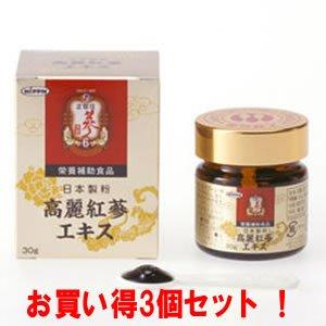 正官庄 高麗紅蔘エキス 30g(お買い得3個セット) B00OK914IE