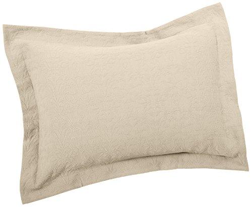 Pinzon Ivy Matelasse Cotton Sham, Standard, Ivory