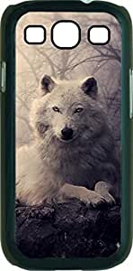 Gentle Wolf- Case for the Samsung Galaxy S3 i9300 -Hard Black Plastic Case