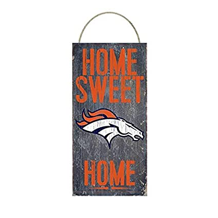 Amazon.com: Denver Broncos Home Sweet Home Distressed Vintage Sign ...