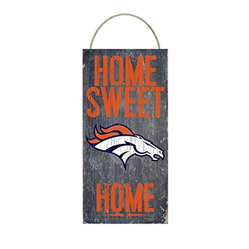 Denver Broncos Home Sweet Home Distressed Vintage Sign for Football Sports Fan Wall Decor CHOOSE YOUR TEAM!!! (Broncos)