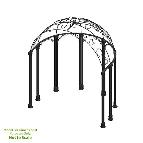Iron Gazebo (Achla Designs Decorative Wrought Iron Half-Round Euphony Garden Pavillion)