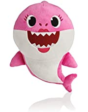 Scienish BabyShark Singing Plush - Music Sound Baby Shark Plush Doll Soft Baby Cartoon Shark Stuffed & Plush Toys Singing English Song For Kids Gift Children Girl - Pink Color