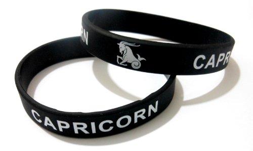 AccessCube Rubber Silicone Unisex Sun Signs Bracelet Zodiac Sun Sign Astrology Wristband Cuff (Capricorn, 17.5 Cm 175x12x2 mm)