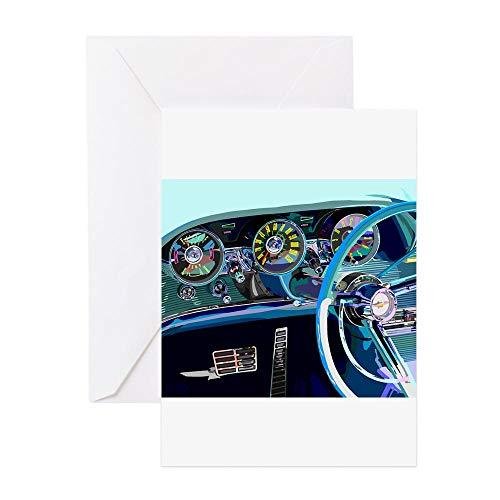 - CafePress Classic Thunderbird Greeting Card, Note Card, Birthday Card, Blank Inside Glossy
