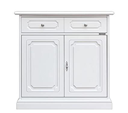 Credenza classica laccata in legno, Mobile midi per cucina/sala da ...