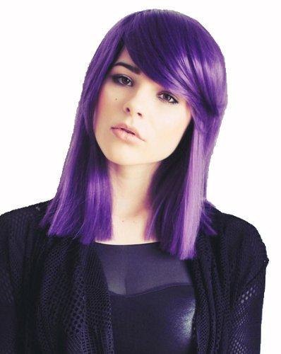 """Prettyland C839 - 35cm Peluca violeta con tacto suave y reflejos """"GUNDAM - Tieria"""