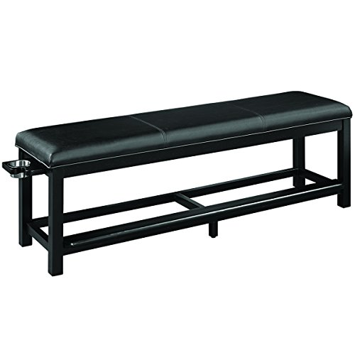 (RAM Gameroom Spectator Storage Bench - Black)