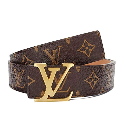 Fashion Leather Metal Buckle Lv Belt Unisex Belt for Men/Women Casual Business (110cm (36