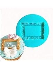 MTSZZF 1 unids Vintage Rectángulo ngulo Marco de Fotos Molde de Pastel de Silicona DIY Fondant Sugarcraft Molde Cortadores de Galletas Herramientas de la Hornada