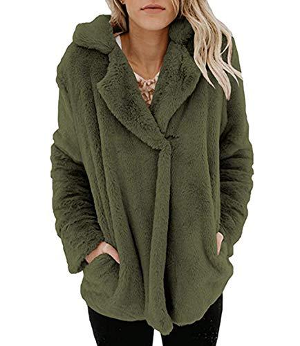 Chaud Cardigan Femmes Outerwear Veste Revers Manteau Vert Hooded Sweater Femme Coat ASSKDAN qHAy4Sww