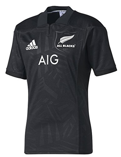 Adidas All Blacks Jersey (adidas New Zealand All Blacks 2017/18 Home Territory Jersey - Adult - Black/White - Large)
