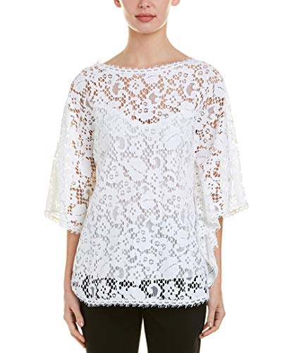 Escada Womens Lace Top, 34, White - Escada Top Shirt