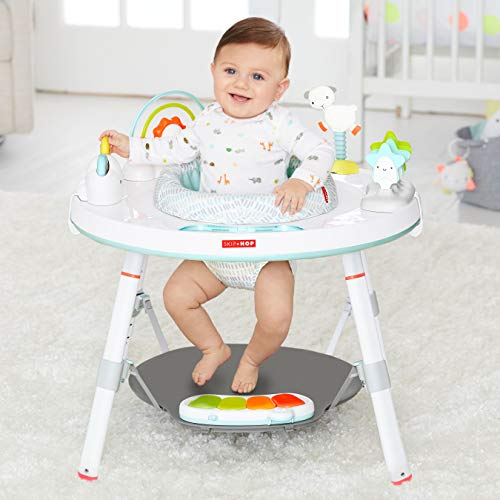 41rZrpMYDNL - Skip Hop Baby's View 3-Stage Activity Center, Silver Lining Cloud, 4 Months