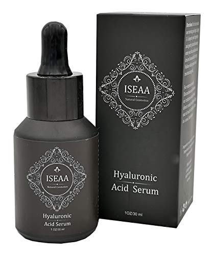 Hyaluronic Acid Serum with Vitamin C, E and Green Tee, Anti Aging facial Serum reduces Wrinkles and fine Lines 1oz