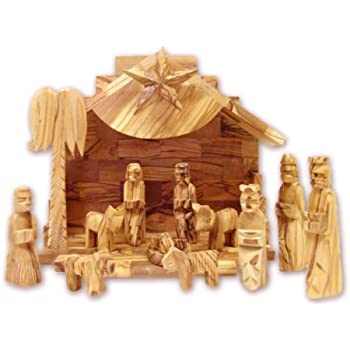 Amazon Com Olive Wood Silent Night Nativity Kitchen