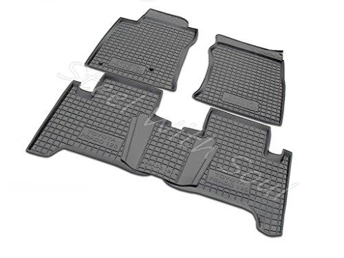 Av-Gumm Fully Tailored Rubber | Set of 5 Car Floor Mats Carpet for Toyota Land Cruiser Prado 120 2002-2009 ()