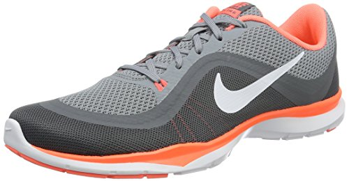 Women's Nike Flex Trainer 6 Training Shoe Stealth/White/Bright Mango/Cool Grey Size 8 M US by NIKE
