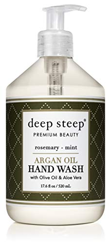 Deep Steep Argan Oil Liquid Hand Wash, Rosemary Mint, 17.6 Fluid Ounce