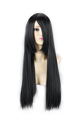 HOOLAZA Black Long Straight Cosplay Wig Katsura Kotarou Tifa Lockhart Wang Yao Cosplay Wig
