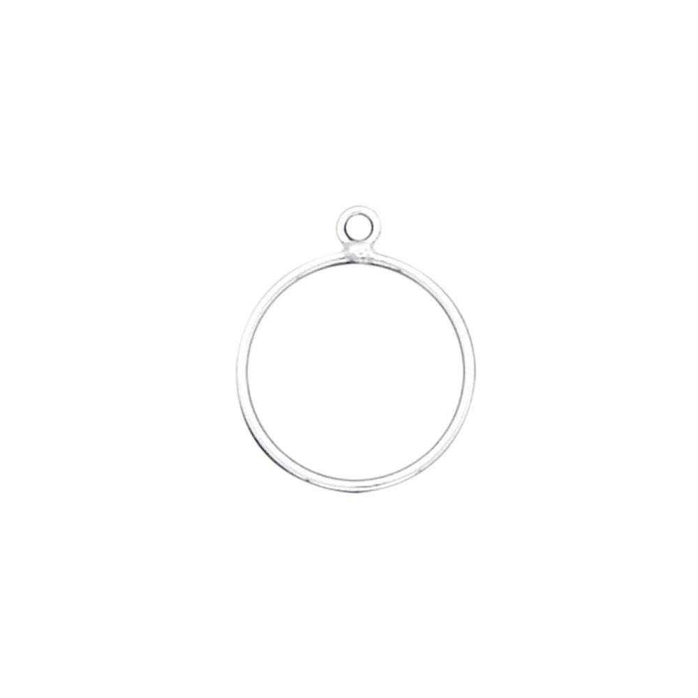 925 Sterling Silver Hoop Post Studs Earrings 7//8 18 Gauge