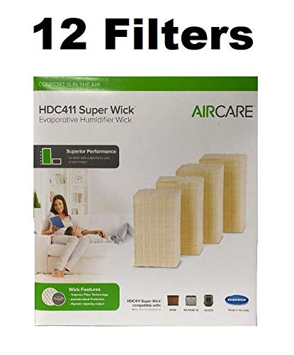 Reliаble AIR CARЕ HDC411 Super Wick, Humidifіer Wick Filter GENUINE 12 FILTERS RAM by R.A.M