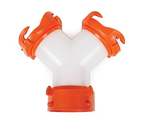 RV Camper Sewer Hose WYE Fitting Adapter Swivel Ends Connect 2 Hoses to Dump Station