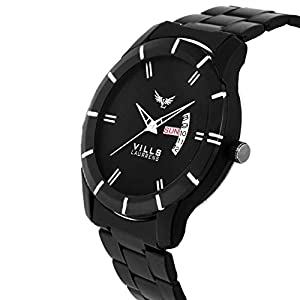 VILLS LAURRENS Analogue Men's Watch (Black Dial Black Colored Strap)