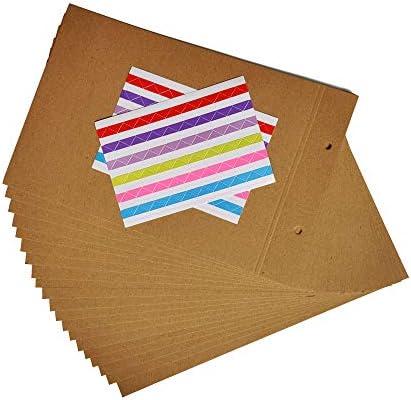 ZEEYUAN Tonkarton 20 Blatt Kraftpapier mit Ringloch Papier Geschenke zum Basteln 18.5 * 26cm DIY-Bedarf für Fotoalbum
