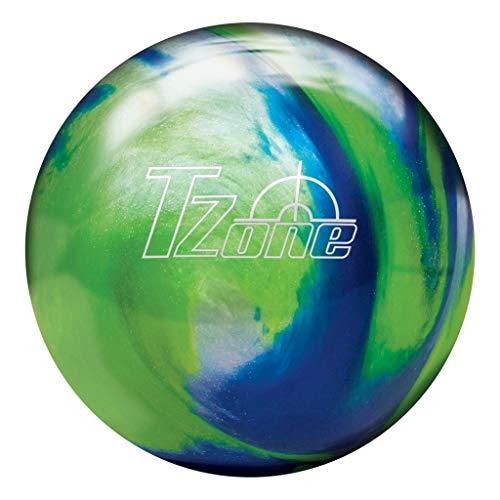 Brunswick Tzone Ocean Reef Bowling Ball Tzone Ocean Reef Bowling Ball, Green/Blue/Silver, 10 lb (Renewed) (Bowling Ball Silver)