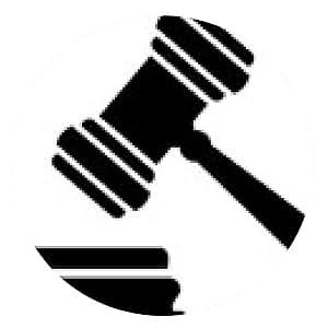 alfombrilla de ratón Mazo del juez Justicia - ronda - 20cm