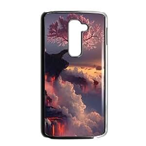 Japanese Flower Sakura LG G2 Cell Phone Case Black WS0237439