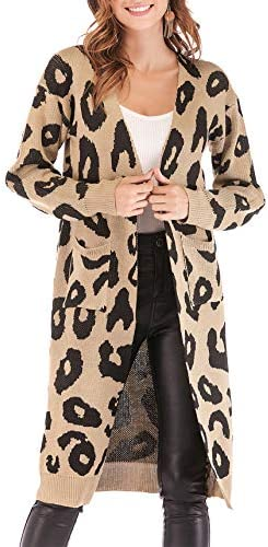 BTFBM Leopard Cardigan Knitted Sweater product image